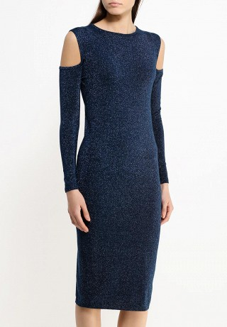 Платье Shoulders cut out wiggle dress with lurex