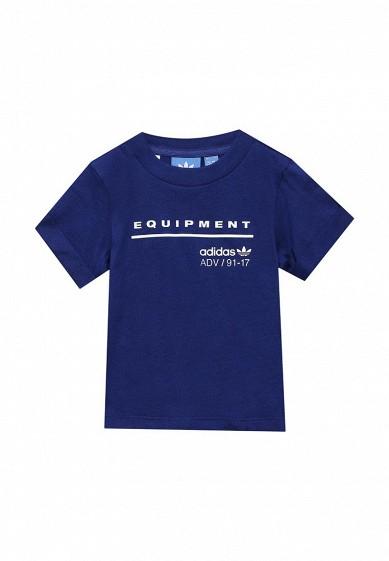 Купить Футболка adidas Originals I EQT TEE RU синий AD093EBUNJ02 Индонезия