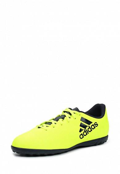 Купить Шиповки adidas Performance X 17.4 TF J желтый AD094ABUOB40 Индонезия