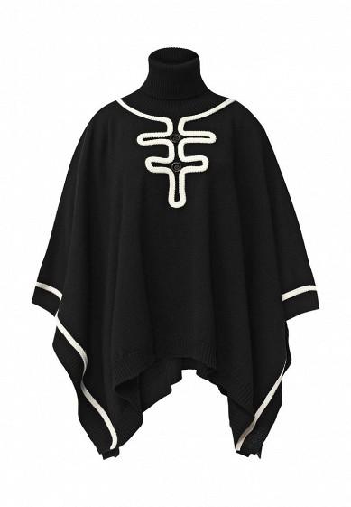 Пончо Boutique Moschino черный BO036EWJLI36 Италия  - купить со скидкой