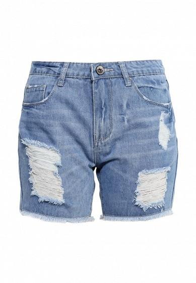 Шорты джинсовые By Swan голубой BY004EWOVC26 Китай  - купить со скидкой