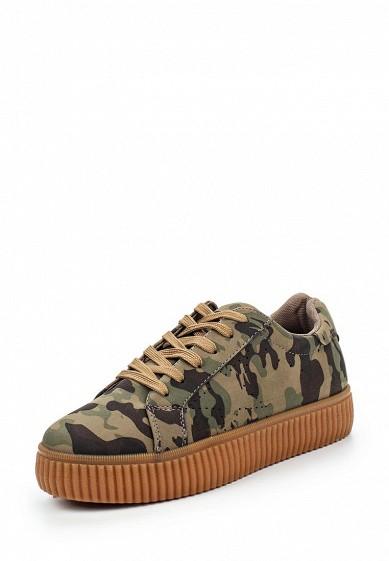 Кеды Ideal Shoes хаки ID005AWPSL71 Китай  - купить со скидкой