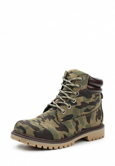 Купить Ботинки Ideal Shoes хаки ID007AWWEI57 Китай