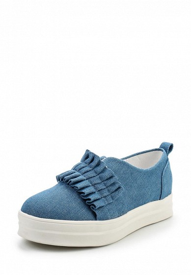 Слипоны LOST INK LANA PLEATED DETAIL SLIP ON PLIMSOLL
