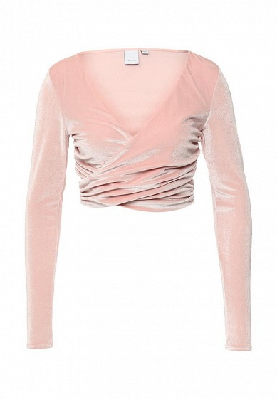 Блуза LOST INK SHERBERT PINK VELVET CUT OUT CROP