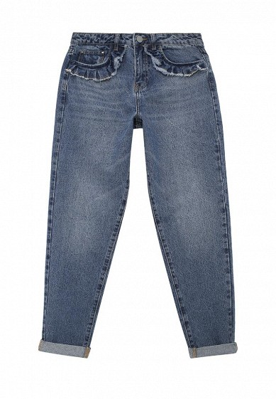 Джинсы LOST INK MOM JEAN IN CACTUS WASH WITH FRILL POCKET