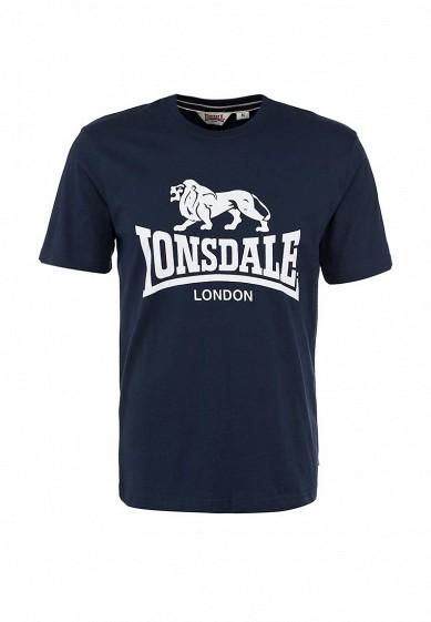 Футболка Lonsdale синий LO789EMARK42 Индонезия  - купить со скидкой
