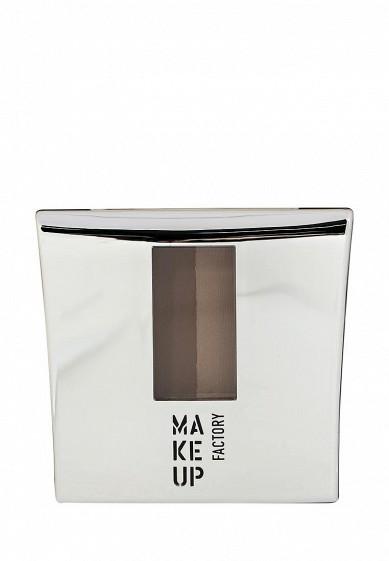 Тени-пудра для бровей с трафаретом Eye Brow Powder тон 4 кофейно-коричневый Make Up Factory MA120LWHDR49  - купить со скидкой