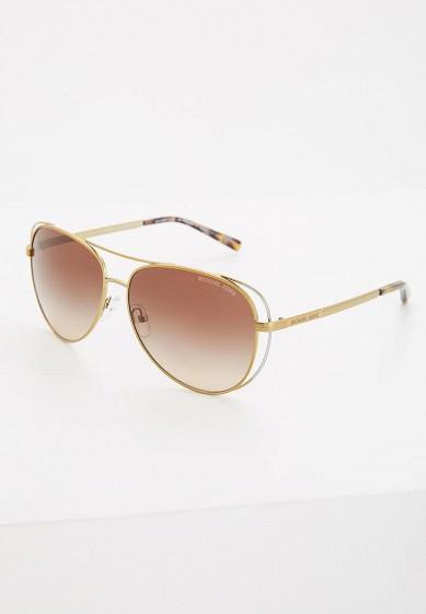 Купить Очки солнцезащитные Michael Kors MK1024 119113 золотой MI186DWZAW20 Китай