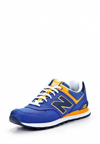Кроссовки New Balance ML574 синий NE007AMATU20 Вьетнам  - купить со скидкой