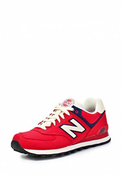 Кроссовки New Balance ML574 красный NE007AMJA770 Китай  - купить со скидкой