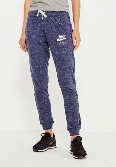 Купить Брюки спортивные Nike W NSW GYM VNTG PANT синий NI464EWUHF53 Камбоджа