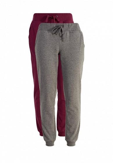 Купить Комплект брюк 2 шт. oodji бордовый, серый OO001EWXOZ63 Узбекистан