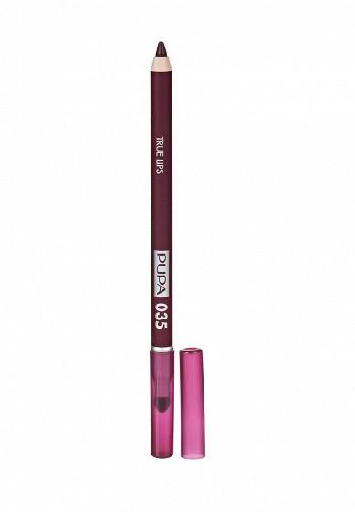 Купить Карандаш для губ Pupa TRUE LIPS, тон 035 Глубокий фиолетовый фиолетовый PU006LWYWW82 Италия