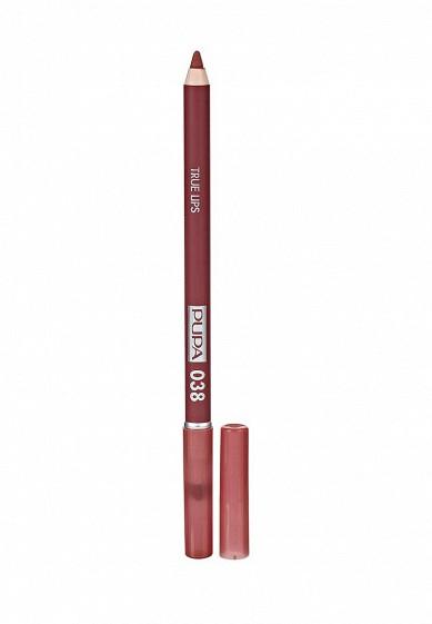 Купить Карандаш для губ Pupa TRUE LIPS, тон 038 Розовый нюд коралловый PU006LWYWW84 Италия