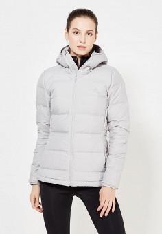 Пуховик, adidas Performance, цвет: серый. Артикул: AD094EWUOG63. Женская одежда / Верхняя одежда / Пуховики и зимние куртки