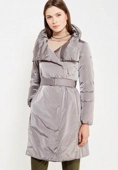 Пуховик, Add, цвет: серебряный. Артикул: AD504EWTCZ85. Премиум / Одежда / Верхняя одежда / Пуховики и зимние куртки
