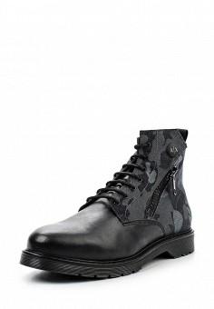 Ботинки, Armani Exchange, цвет: черный. Артикул: AR037AMTLB11. Мужская обувь / Ботинки и сапоги