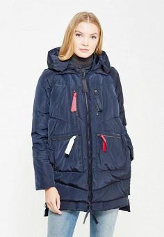 Пуховик, Armani Jeans, цвет: синий. Артикул: AR411EWTYA43. Премиум / Одежда / Верхняя одежда / Пуховики и зимние куртки