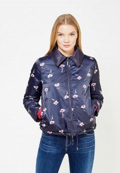 Куртка утепленная, Armani Jeans, цвет: синий. Артикул: AR411EWTYA57. Премиум / Одежда / Верхняя одежда / Пуховики и зимние куртки