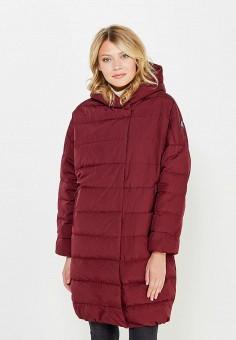 Пуховик, Baon, цвет: бордовый. Артикул: BA007EWWAQ23. Женская одежда / Верхняя одежда / Пуховики и зимние куртки