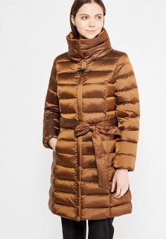 Пуховик, Baon, цвет: коричневый. Артикул: BA007EWWAQ45. Женская одежда / Верхняя одежда / Пуховики и зимние куртки