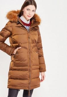 Пуховик, Baon, цвет: коричневый. Артикул: BA007EWWAQ46. Женская одежда / Верхняя одежда / Пуховики и зимние куртки / Длинные пуховики и куртки