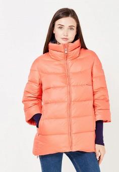 Пуховик, Baon, цвет: оранжевый. Артикул: BA007EWWAQ64. Женская одежда / Верхняя одежда / Пуховики и зимние куртки