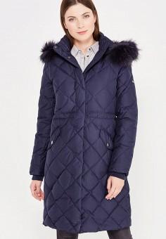 Пуховик, Baon, цвет: синий. Артикул: BA007EWWAQ92. Женская одежда / Верхняя одежда / Пуховики и зимние куртки / Длинные пуховики и куртки