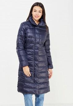 Пуховик, Baon, цвет: синий. Артикул: BA007EWWAQ99. Женская одежда / Верхняя одежда / Пуховики и зимние куртки / Длинные пуховики и куртки
