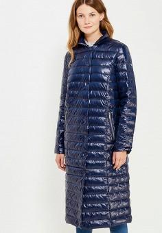 Пуховик, Baon, цвет: синий. Артикул: BA007EWWAR17. Женская одежда / Верхняя одежда / Пуховики и зимние куртки / Длинные пуховики и куртки