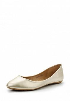 Балетки, Betsy, цвет: золотой. Артикул: BE006AWQCC69. Женская обувь