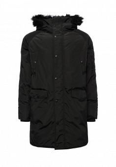 Парка, Befree, цвет: черный. Артикул: BE031EMVDD58. Мужская одежда / Верхняя одежда / Пуховики и зимние куртки