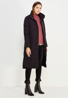 Пуховик, Befree, цвет: черный. Артикул: BE031EWUXT15. Женская одежда / Верхняя одежда / Пуховики и зимние куртки / Длинные пуховики и куртки