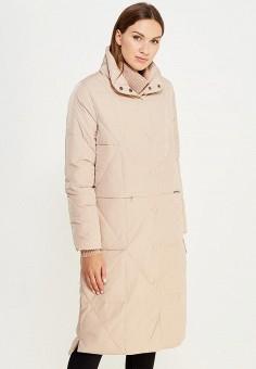 Пуховик, Befree, цвет: бежевый. Артикул: BE031EWUXT16. Женская одежда / Верхняя одежда / Пуховики и зимние куртки / Длинные пуховики и куртки