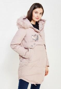 Пуховик, Befree, цвет: розовый. Артикул: BE031EWYLT76. Женская одежда / Верхняя одежда / Пуховики и зимние куртки / Длинные пуховики и куртки