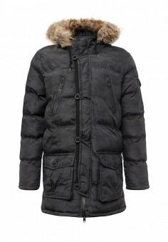 Куртка утепленная, Brave Soul, цвет: черный. Артикул: BR019EMXWS98. Мужская одежда / Верхняя одежда / Пуховики и зимние куртки
