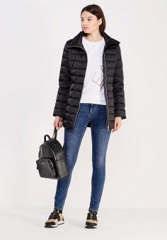 Пуховик, EA7, цвет: черный. Артикул: EA002EWUEJ16. Премиум / Одежда / Верхняя одежда / Пуховики и зимние куртки