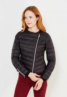 Пуховик, Geox, цвет: черный. Артикул: GE347EWVAL89. Женская одежда / Верхняя одежда / Пуховики и зимние куртки