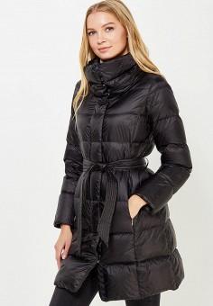 Пуховик, Geox, цвет: черный. Артикул: GE347EWVAL99. Женская одежда / Верхняя одежда / Пуховики и зимние куртки