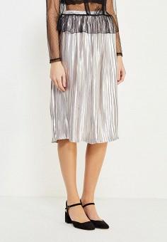 Серебряная юбка купить