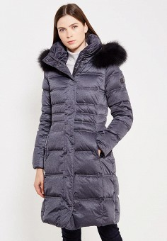 Пуховик, Hetrego, цвет: серый. Артикул: HE832EWVIV35. Премиум / Одежда / Верхняя одежда / Пуховики и зимние куртки
