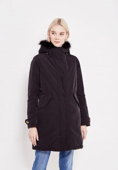 Пуховик, Hetrego, цвет: черный. Артикул: HE832EWVIV40. Женская одежда / Верхняя одежда / Парки