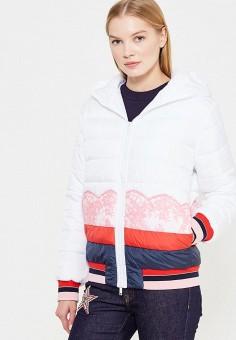 Куртка утепленная, Iceberg, цвет: белый. Артикул: IC461EWTWP44. Премиум / Одежда / Верхняя одежда