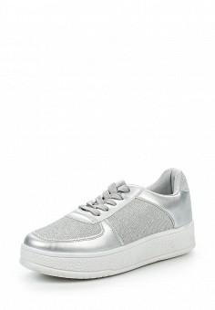 Кроссовки, Ideal Shoes, цвет: серебряный. Артикул: ID005AWPVB75. Женская обувь / Кроссовки и кеды