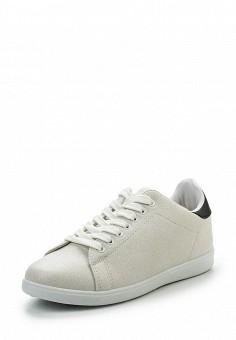 Кеды, Ideal Shoes, цвет: бежевый. Артикул: ID005AWRWQ32. Женская обувь / Кроссовки и кеды