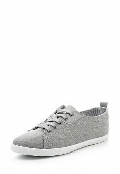 Кеды, Ideal Shoes, цвет: серый. Артикул: ID005AWSBF32. Женская обувь / Кроссовки и кеды