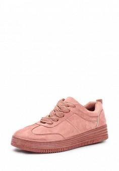 Кеды, Ideal Shoes, цвет: розовый. Артикул: ID007AWWEI77. Женская обувь / Кроссовки и кеды