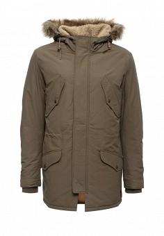 Куртка утепленная, Jack & Jones, цвет: хаки. Артикул: JA391EMUIX08. Мужская одежда / Верхняя одежда / Парки