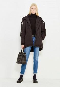 Пуховик, Liu Jo Jeans, цвет: черный. Артикул: LI003EWUXJ05. Премиум / Одежда / Верхняя одежда / Пуховики и зимние куртки
